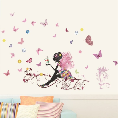 Stickers Belle Fille Papillon