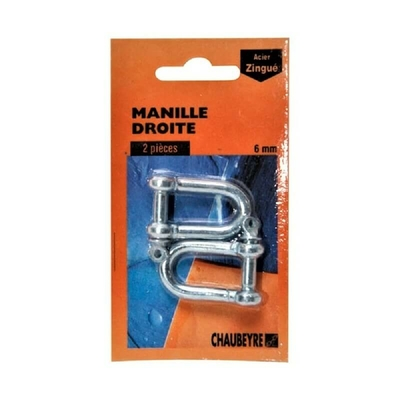 Manille droite standard 12mm