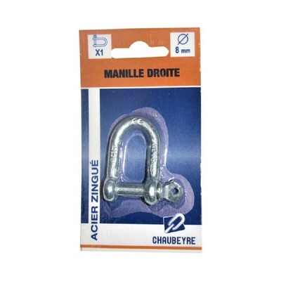 Manille droite standard 8mm