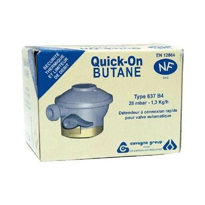 Détendeur butane quick on p/valve 27mm