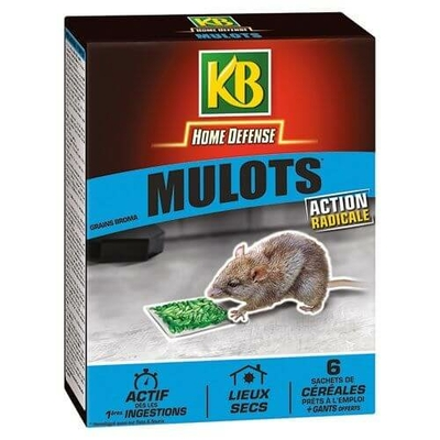 Mulot céréales 6x25g Home defense