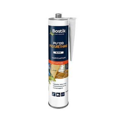Colle mastic fixation pro PU120 blanc 300ml