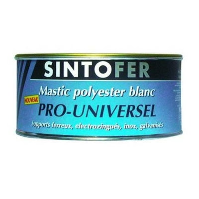 Mastic polyester blanc universel