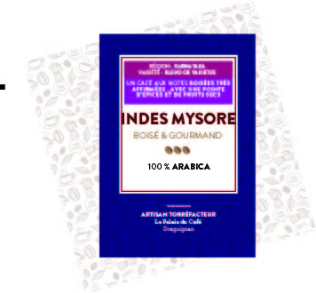 Indes Mysorre Cherry 100 % arabica - café boisé, notes d\'épices et de fruits secs