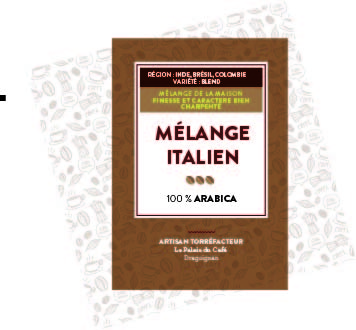 Mélange Italien 100 % Arabica - Inde, Brésil, Colombie