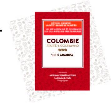 Etiquette café Colombie