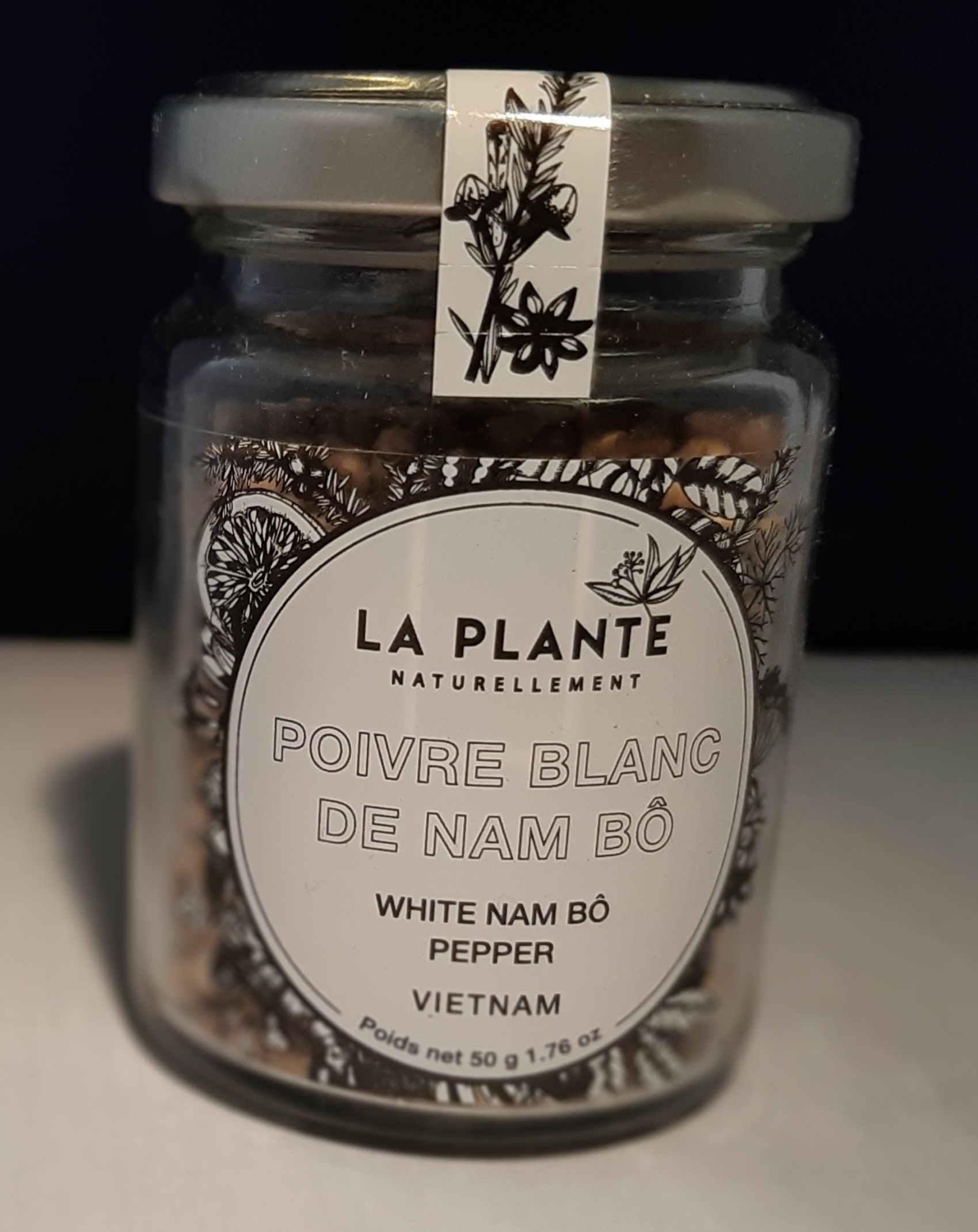 Poivre blanc de Nam Bô BIO . 50 gr