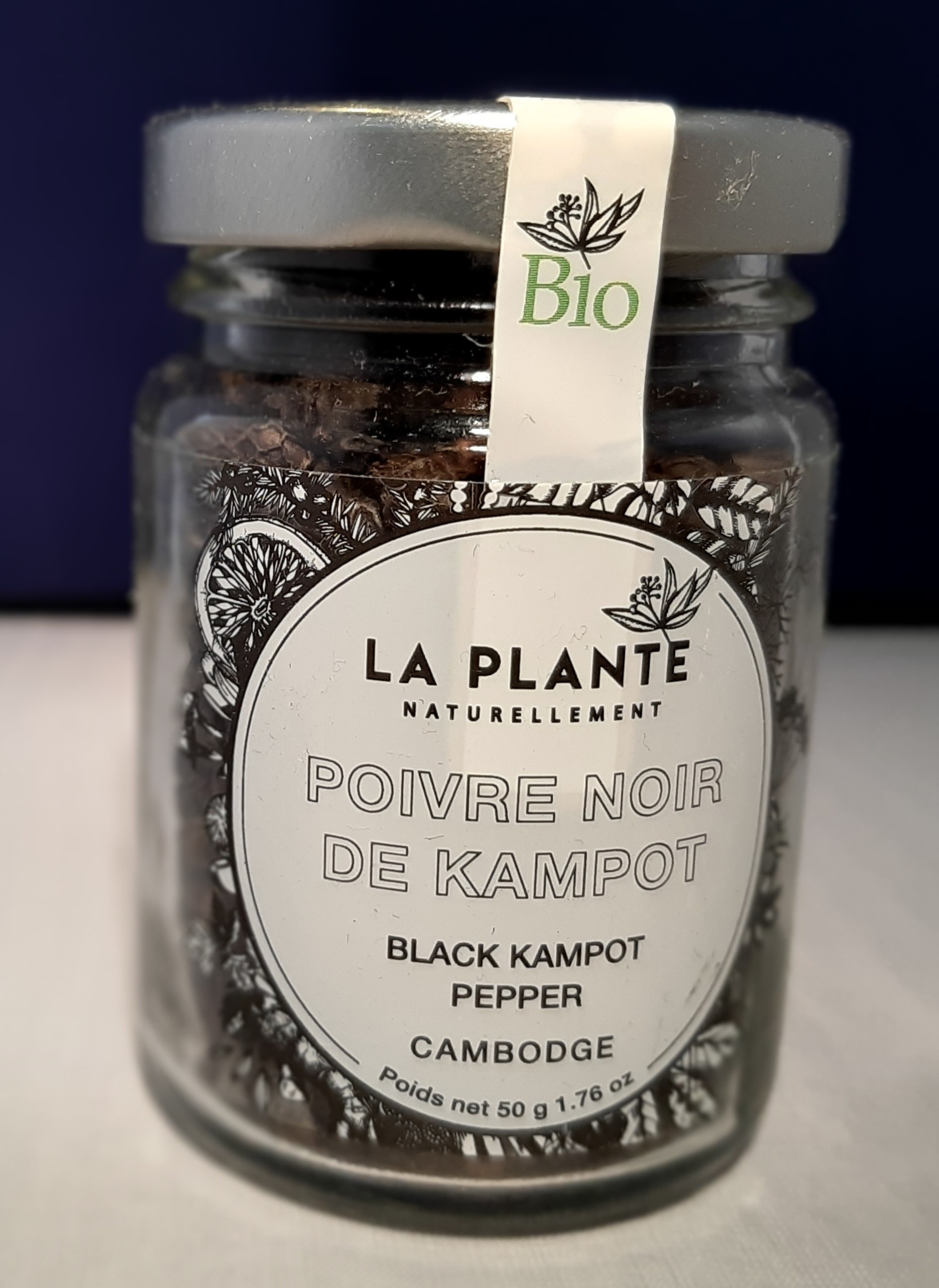 Poivre noir de Kampot BIO - 50 gr