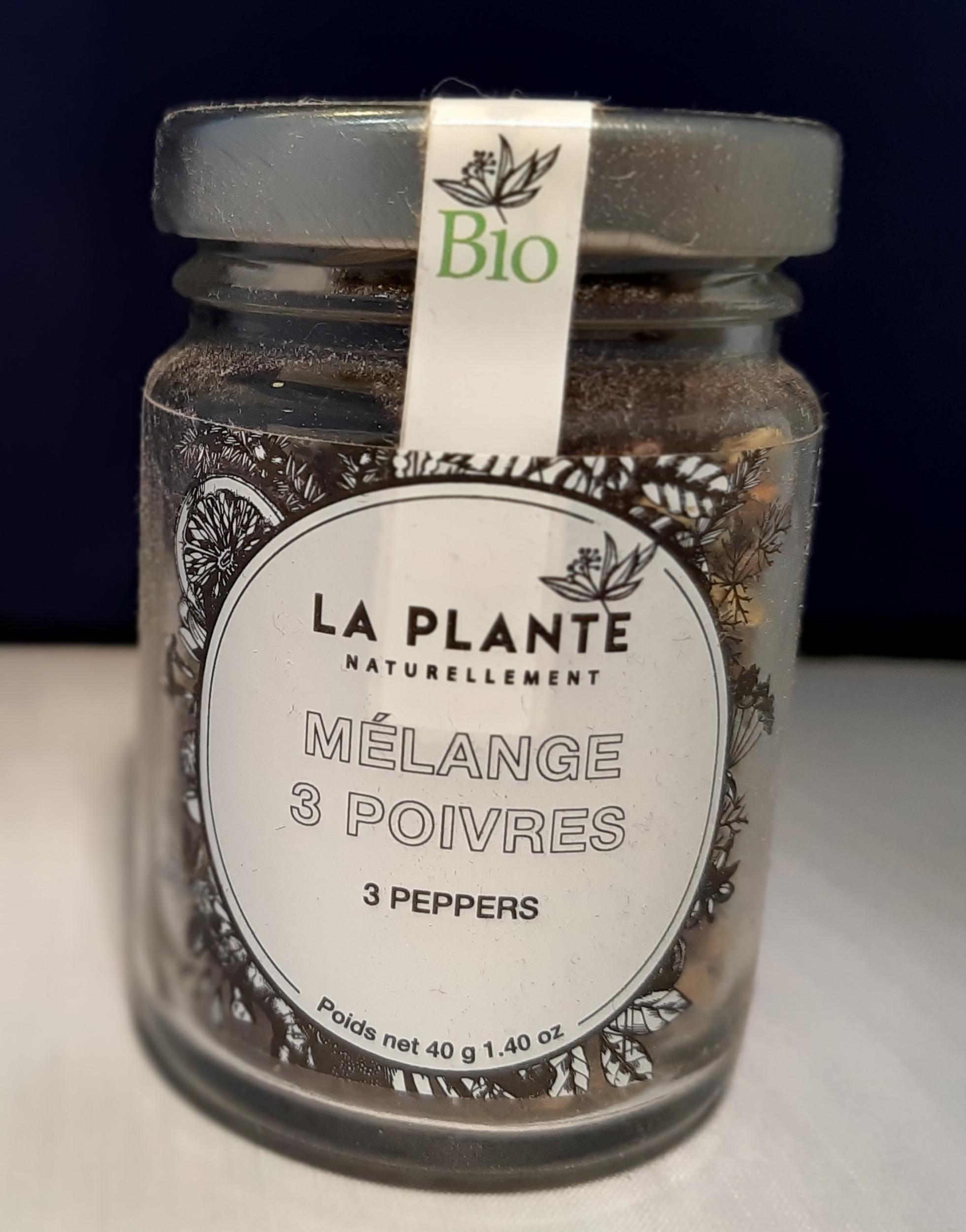 Mélange 3 poivres Bio - 40 gr