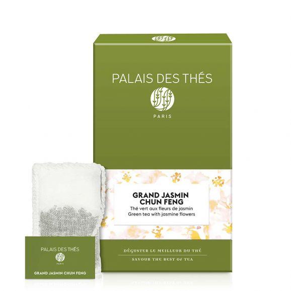 Grand Jasmin Chun feng - Le Palais des thés - 20 sachets mousselines feuilles entières