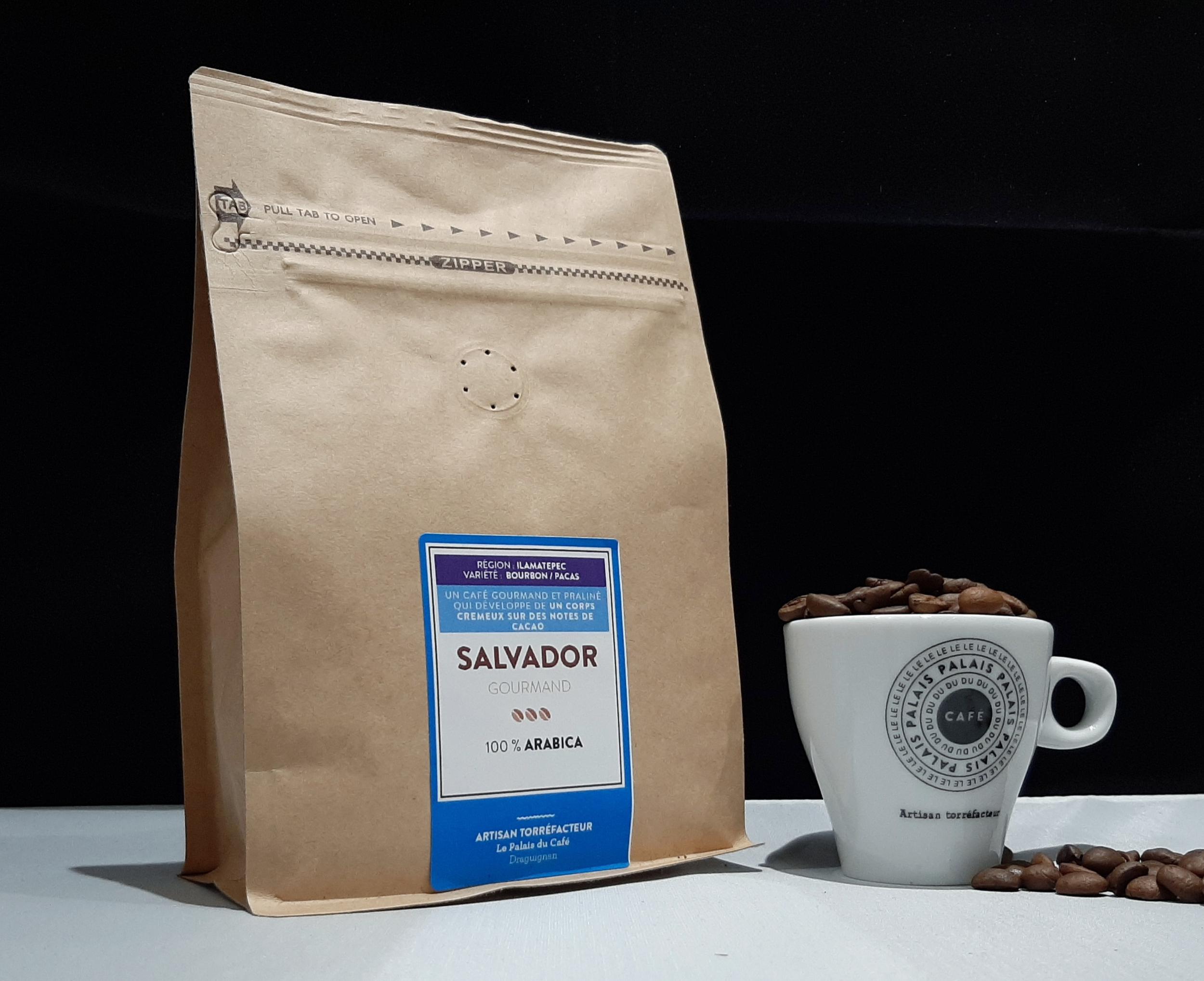 Salvador Bourbon/Pacas - 100 % arabica - café gourmand et praliné