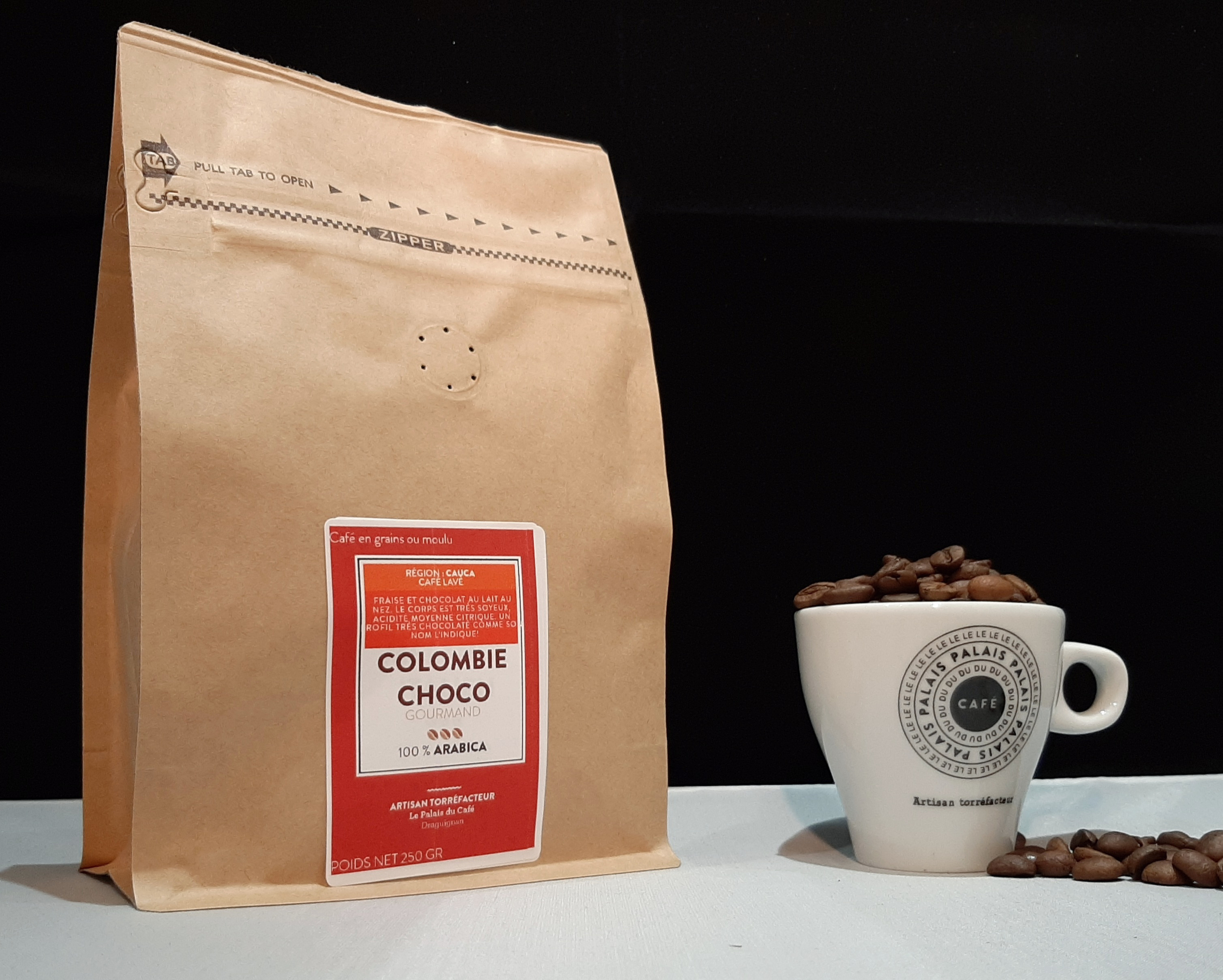 café en grains Colombie