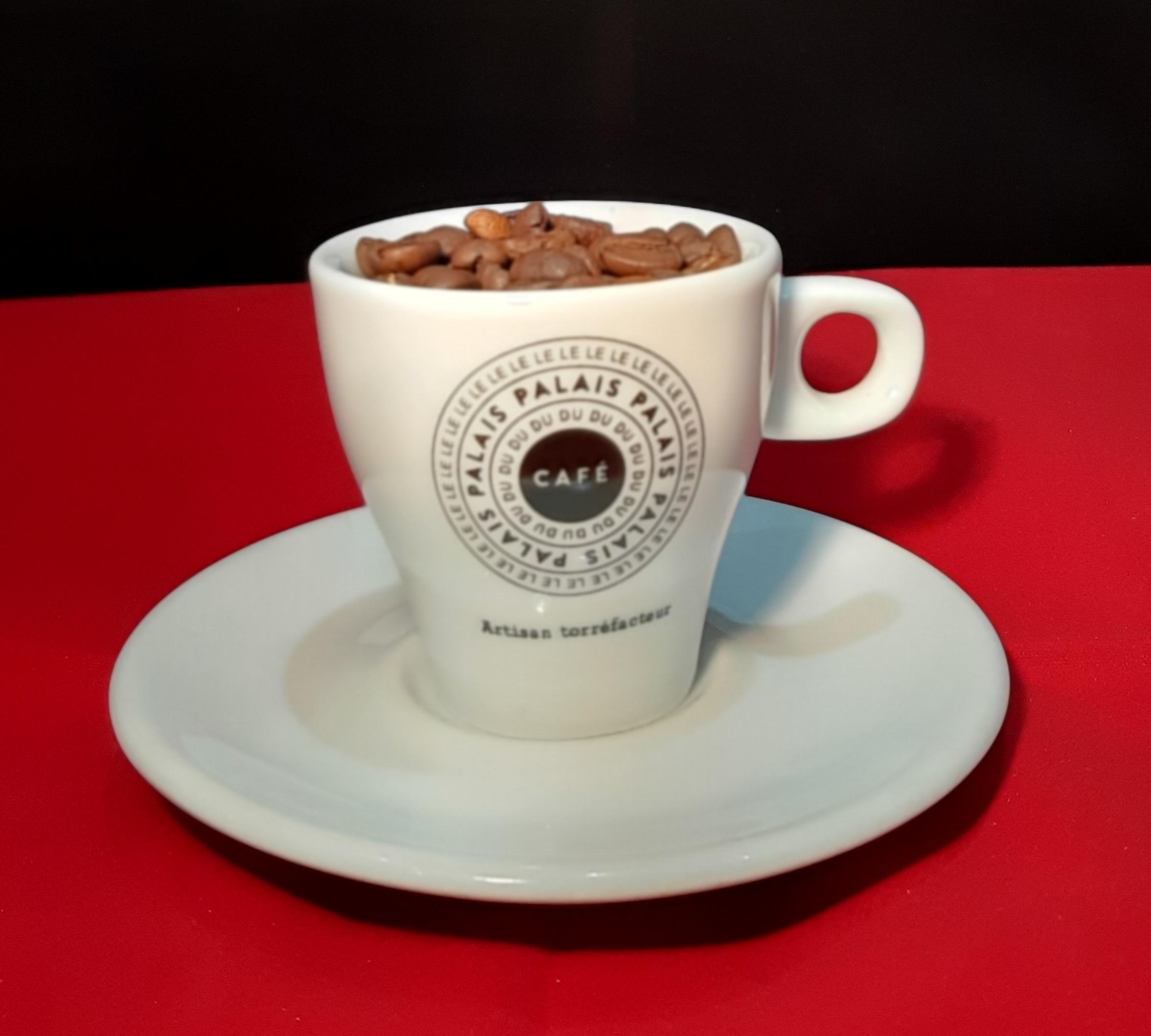 Set de 6 tasses et sous tasses le palais du café 8cl