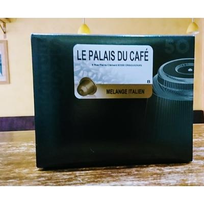 50 Capsules compatibles Nespresso® mélange italien 100% arabica