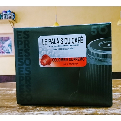 50 Capsules compatibles Nespresso® Colombie 100 % arabica