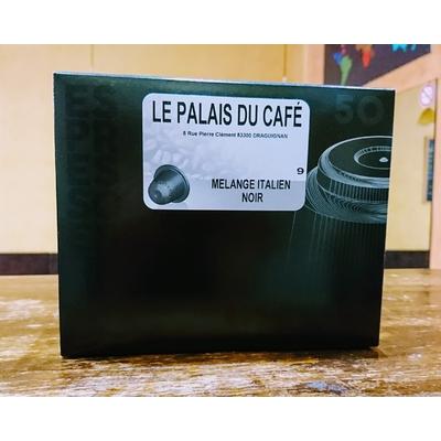 50 Capsules Compatibles Nespresso® mélange italien 80 % arabica - 20 % robusta