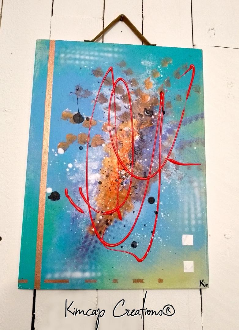 Decoration Murale Abstraite Sur Bois