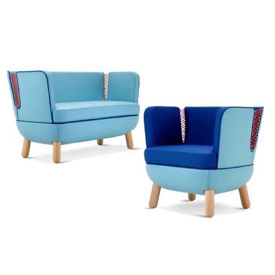 Canapé et fauteuil COUTURE pour salle d'attente