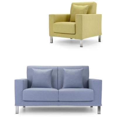 Canapé 2 à 3 places RODRIGUES avec fauteuil et coussins pour hôtel & spa