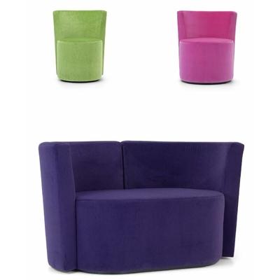 Canapé 2 places DAGOBERT avec fauteuils pour hôtel & spa
