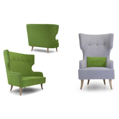 Canapé 2 places avec fauteuil MADAME