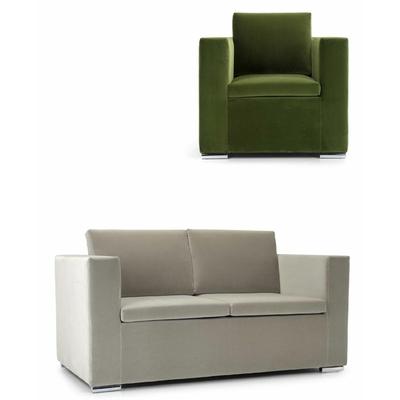 Canapé 2 à 3 places CHURCHILL avec fauteuil pour hôtel & spa