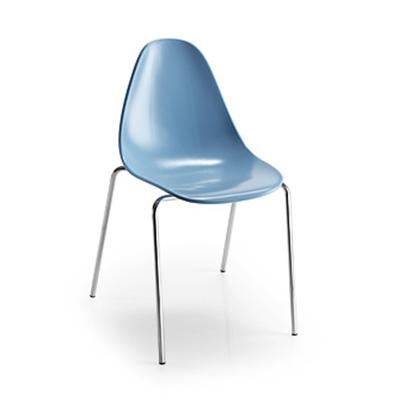 Chaise design NATURA pieds droits - lot de 4 chaises pour salle d'attente ou restaurant