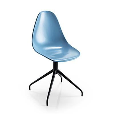 Chaise design NATURA pieds Spoke - lot de 4 chaises pour salle d'attente ou restaurant