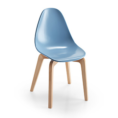 Chaise design NATURA Scandinave - lot de 4 chaises pour salle d'attente ou restaurant