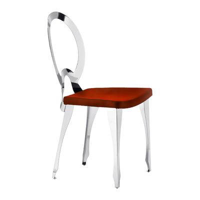 Chaise médaillon LOUIS structure métal dossier creux - lot de 4 chaises