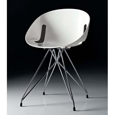 Chaise design LOLITA pieds Eiffel - lot de 4 chaises pour salle d'attente ou restaurant