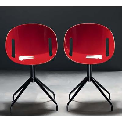 Chaise design LOLITA pieds Spoke - lot de 4 chaises pour salle d'attente ou restaurant