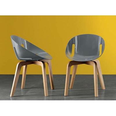 Chaise design LOLITA Scandinave - lot de 4 chaises pour salle d'attente ou restaurant