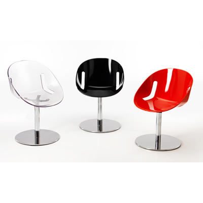 Chaise design LOLITA pied central tournant avec socle - lot de 4 chaises