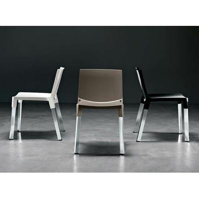 Chaise design FLAMENCA pieds droits - lot de 4 chaises pour restaurant