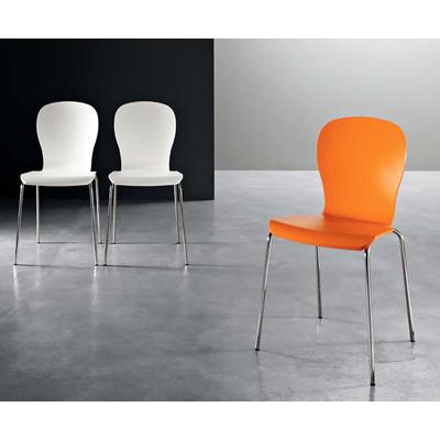 Chaise design ROANA - lot de 4 chaises pour salle d'attente ou restaurant