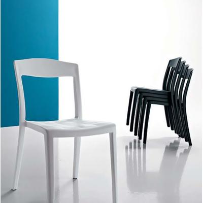 Chaise gauffrée empilable LADYDI - lot de 4 chaises pour salle d'attente ou restaurant