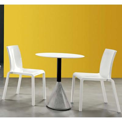 Chaise extérieur empilable GOOD - lot de 4 chaises pour salle d'attente ou restaurant