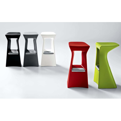 Tabouret de bar terrasse Pop Art SLICE - lot de 4 tabourets
