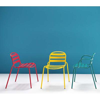 Chaise de bar métal NUTS - lot de 4 chaises