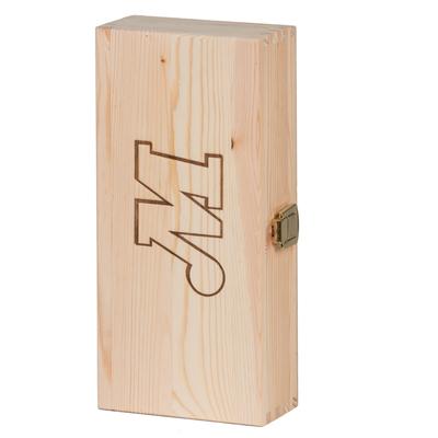 Boîte personnalisée en bois massif 24.4x16.2x5.2cm capacité 3 bouteilles - minimum 100 pièces
