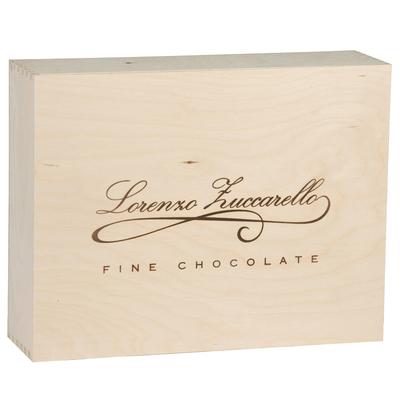 Boîte couvercle personnalisée en bois 34.8x26.6x9.5cm Economique - minimum 100 pièces