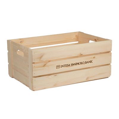 Grande cagette bois Luxe personnalisable 3 lattes 56.8x38.4x25cm - minimum 100 pièces