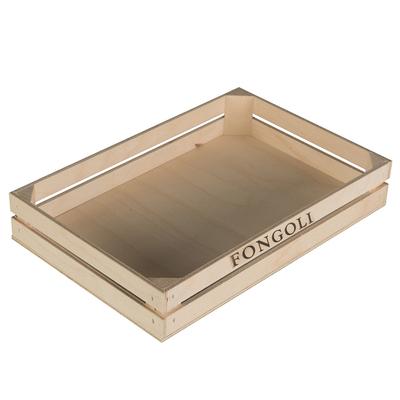 Grande cagette bois marquage promotionnel Premier Prix 25x16.2x4cm - minimum 100 pièces