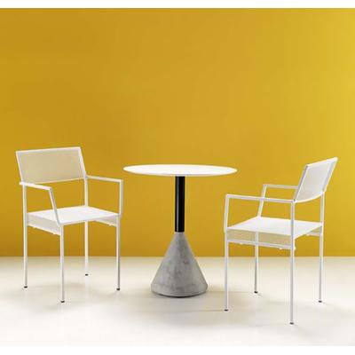 Fauteuil de terrasse métal MYRTI - lot de 4 fauteuils