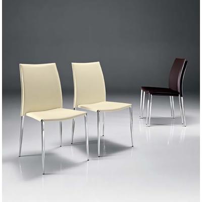 Chaise cuir ELEGANCIA - lot de 4 chaises pour salle d'attente