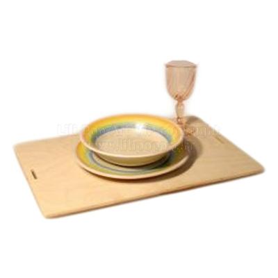 Set de table rectangulaire bois publicitaire TAPAS en bouleau - à personnaliser, 44cm