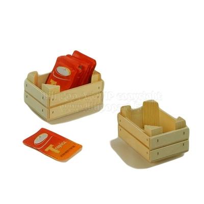 Mini cagette bois CAFE personnalisable - 2 tailles 9 et 14cm