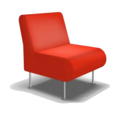 Fauteuil BIMBO avec ou sans accoudoirs pour salle d'attente ou pour hôtel & spa