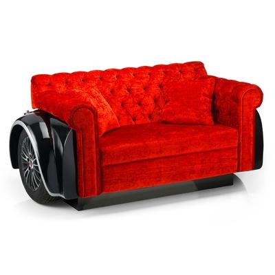 Canapé capitonné OLDCAR de style rétro